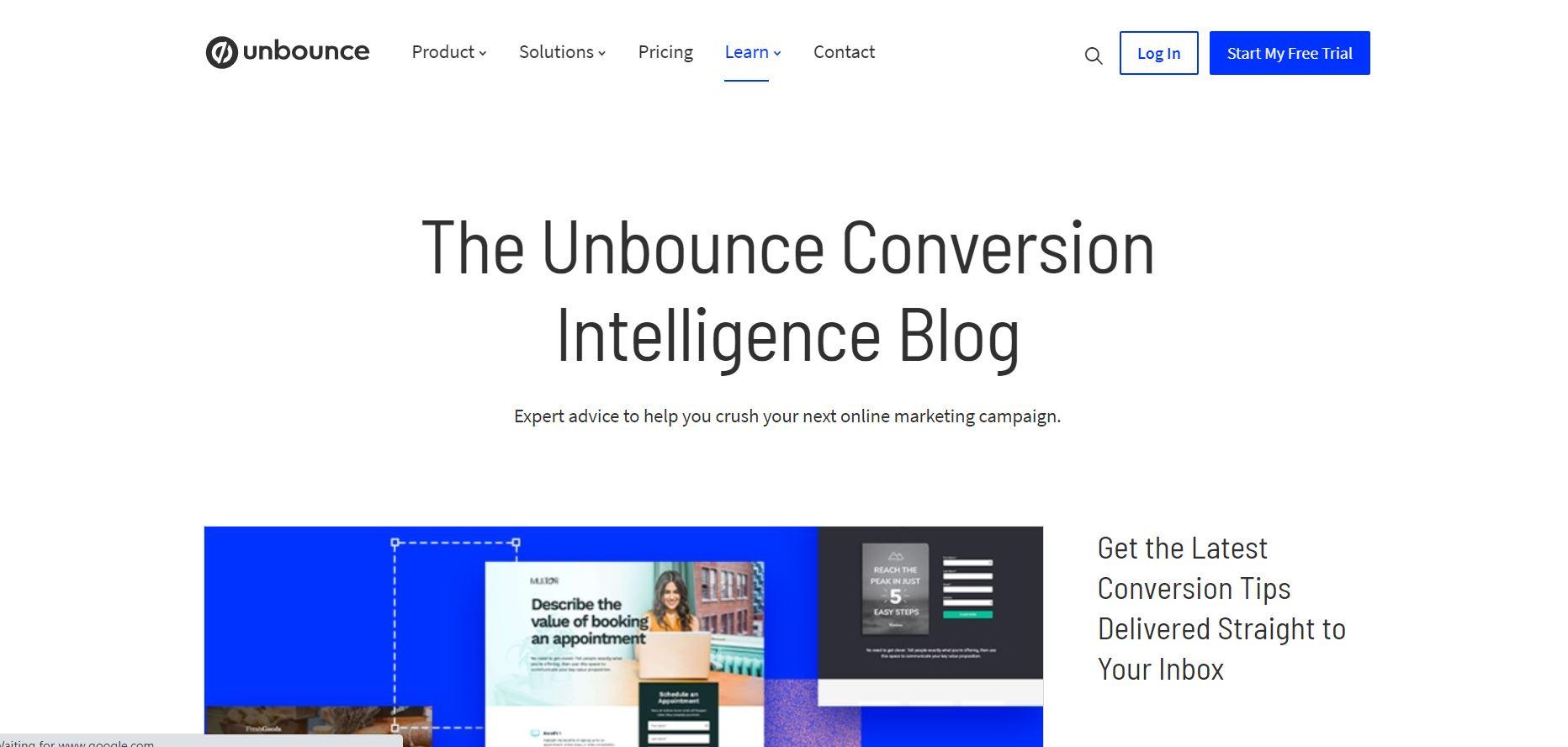 Unbounce blog