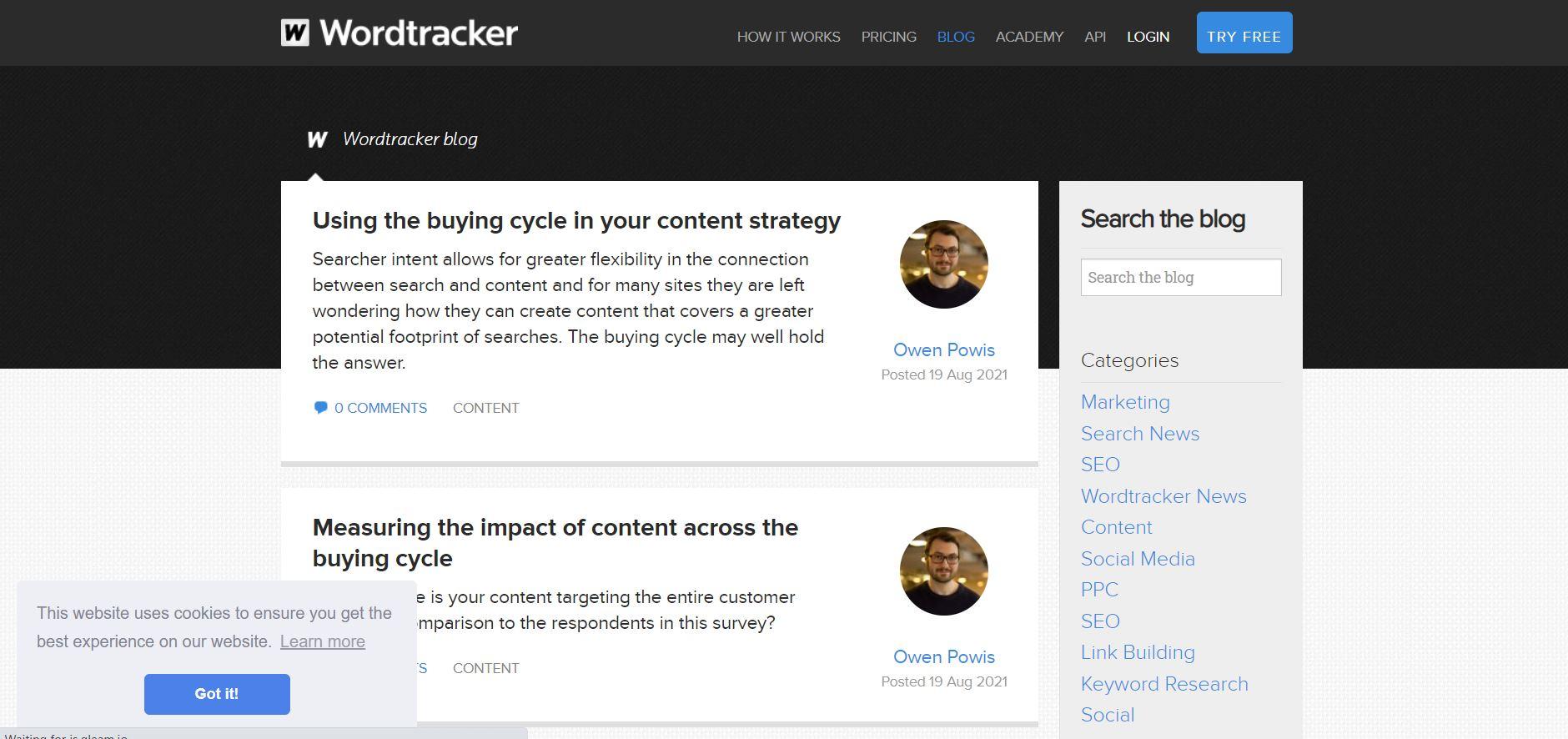 Wordtracker Blog