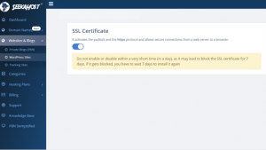 Activate SSL Certificate